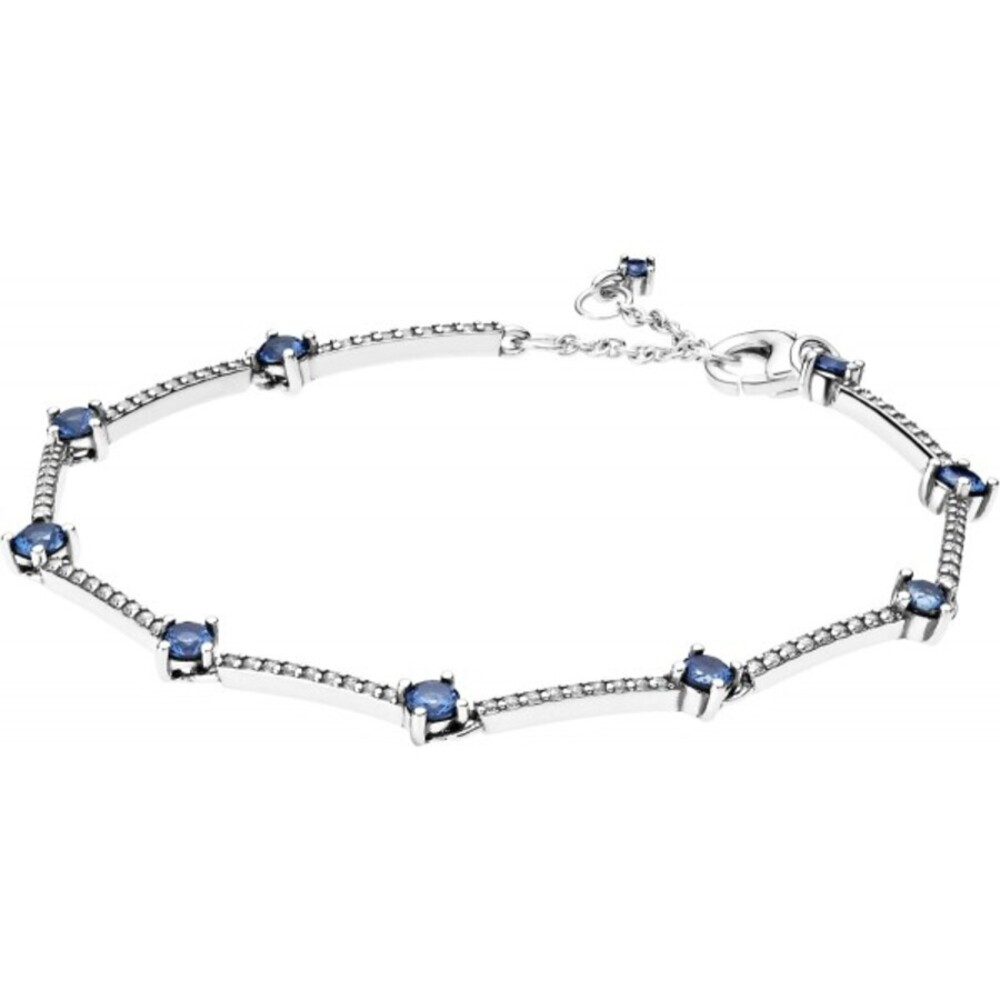 Pandora Armband 599217C01 Sparkling Pave BarsSilber 925 clear cubic zirconia skylight blue crystals