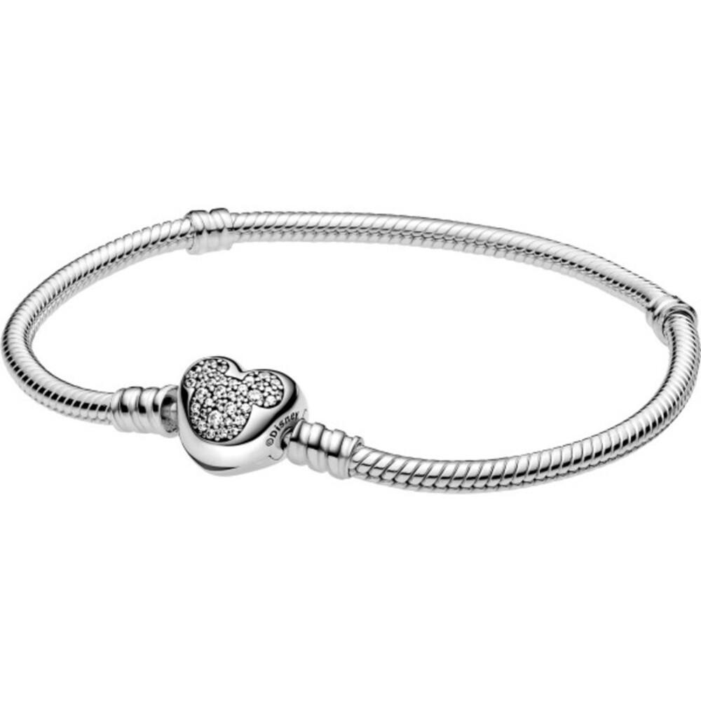 Pandora Armband Disney Pandora Moments Mickey Mouse Heart Sterling Silber 599299C01