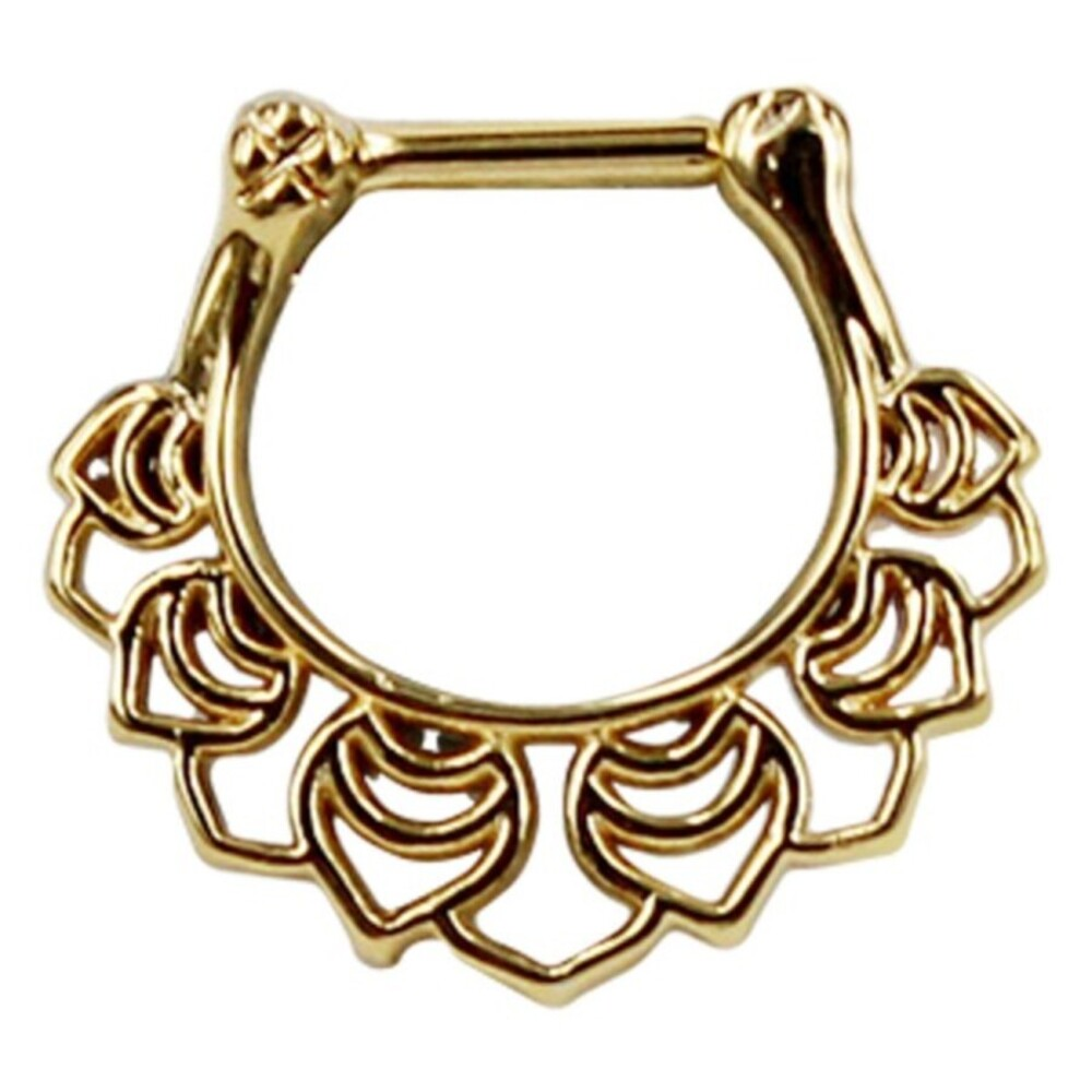 Piercing Septum Stab Chirurgenstahl 316L PVD Gold Ring aus Metall Klicker 10mm