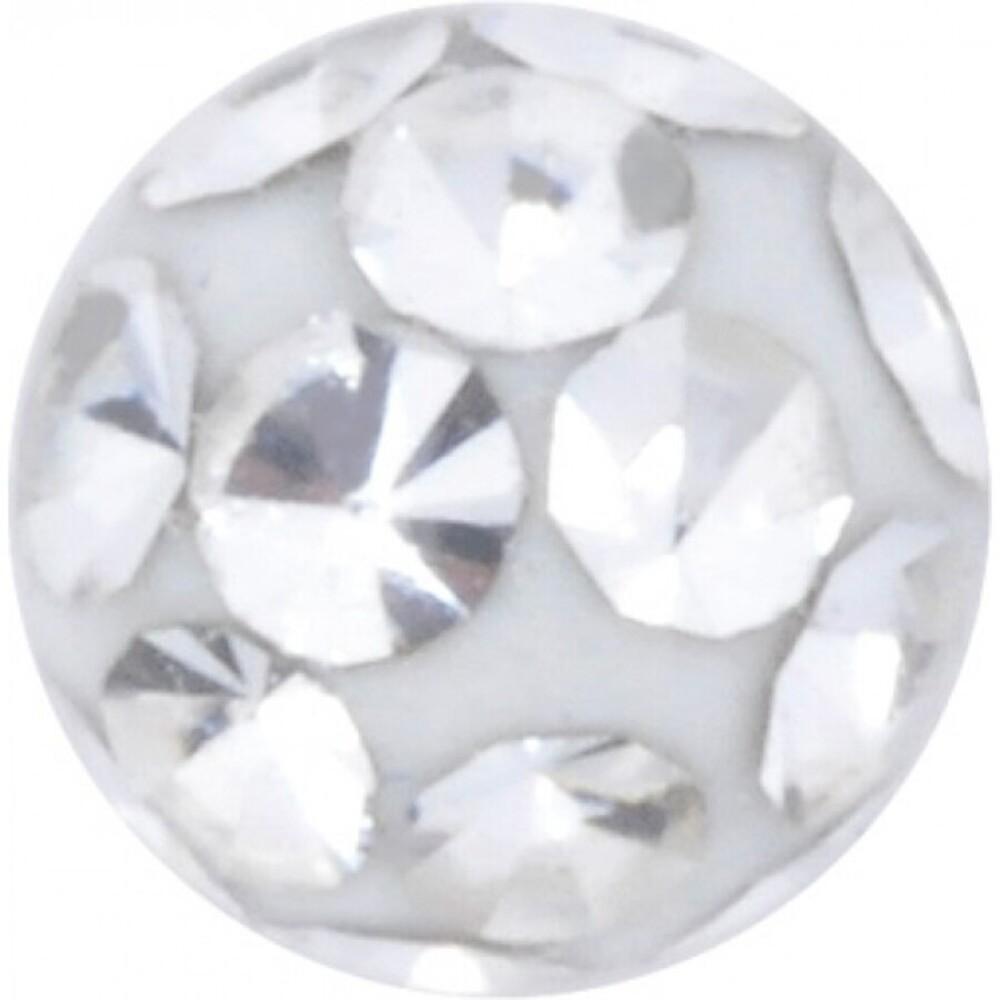 Gewindekugeln Bauchnabelpiercing Chirurgenstahl 1,2mm Gewindestärke Kugelfarbe klarer Kristall