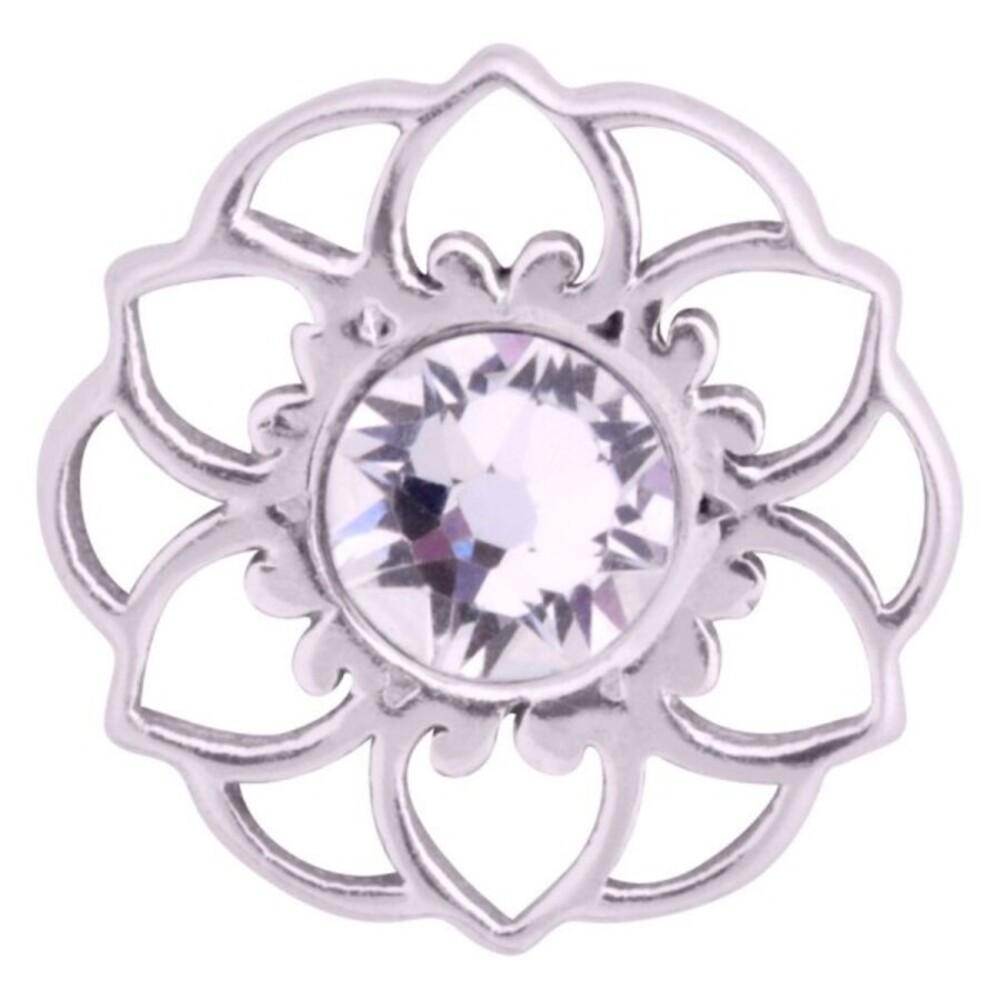 Medusa Piercing Bioplast Sterling Silber 925 Aufsatz Mandala Flower silberfarben