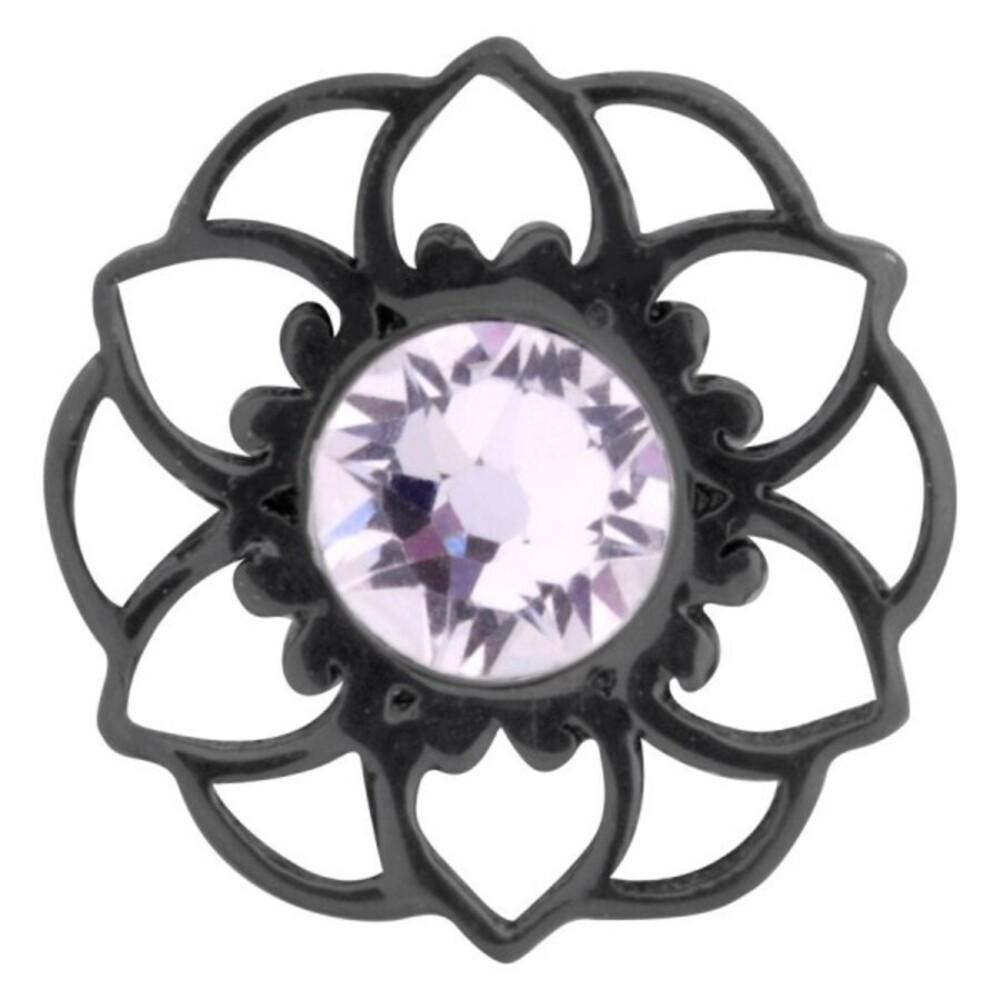 Medusa Piercing Bioplast Sterling Silber 925 Aufsatz Mandala Flower schwarz PVD