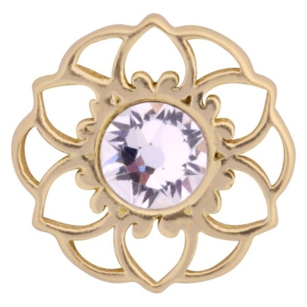 Medusa Piercing Bioplast Sterling Silber 925 Aufsatz Mandala Flower vergoldet