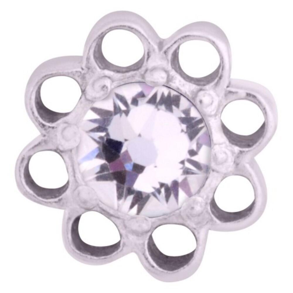 Medusa Piercing Bioplast Sterling Silber 925 Aufsatz Florescence silberfarben