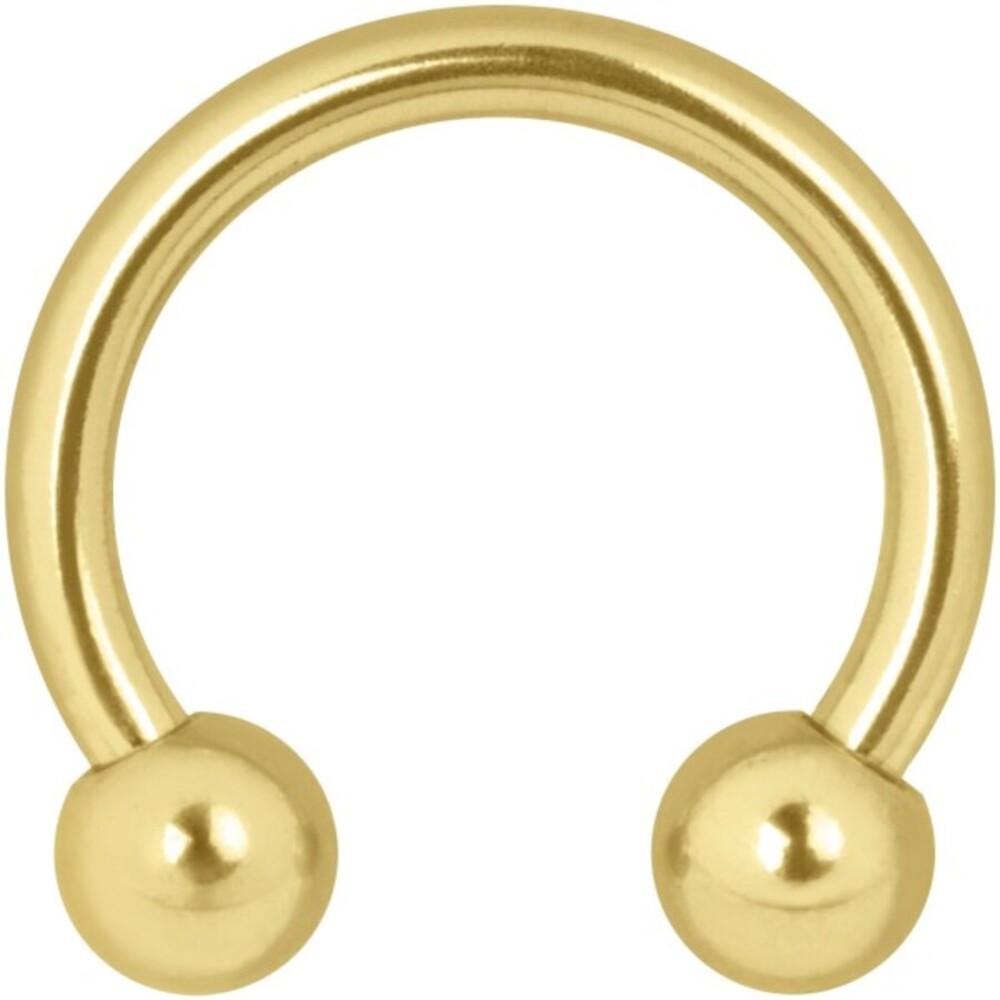 Wildcat Circular Barbells Piercing Ring Gold 750 unterschiedliche Größen und Stabstärken