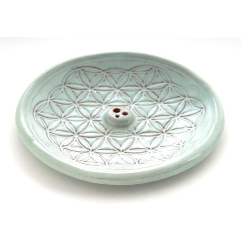 Lebensblume Räucherhalter Keramik Berk KH-560-BL