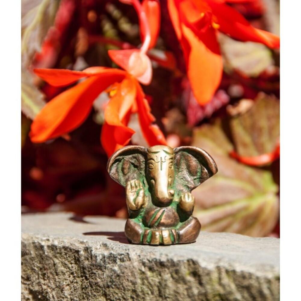 Ganesha  Messing Figur Berk FI-230 3cm Indische Gottheit