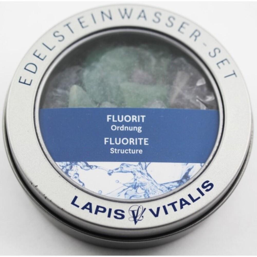 Fluorit Wassersteine Ordnung Lapis Vitalis Edelstein Wasser Set
