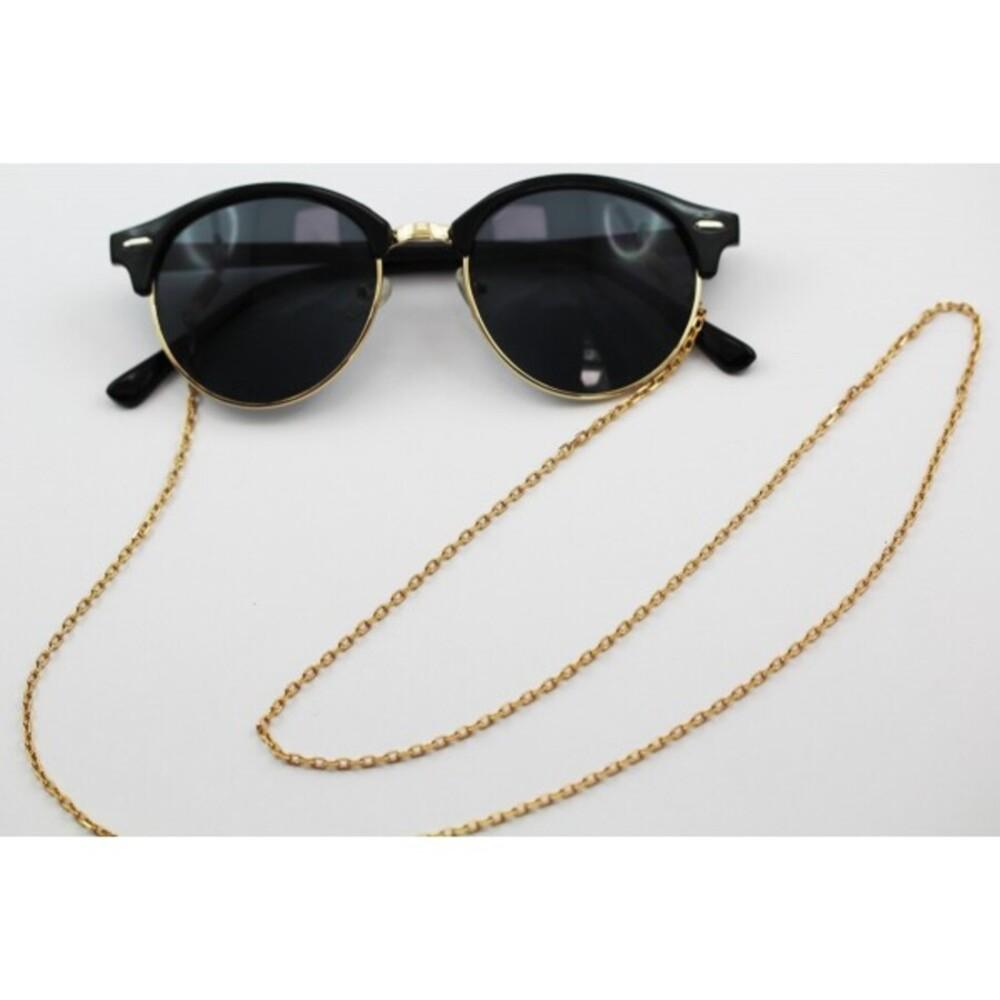 Sonnenbrillenkette Brillenkette Ankerkette 2,5mm, 75cm lang, T-Y, vergoldetes Metall_5