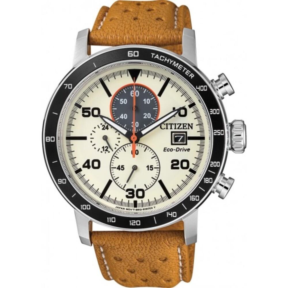 Citizen Herrenuhr CA0641-16X Eco Drive Chronograph Lederarmband Markenuhren