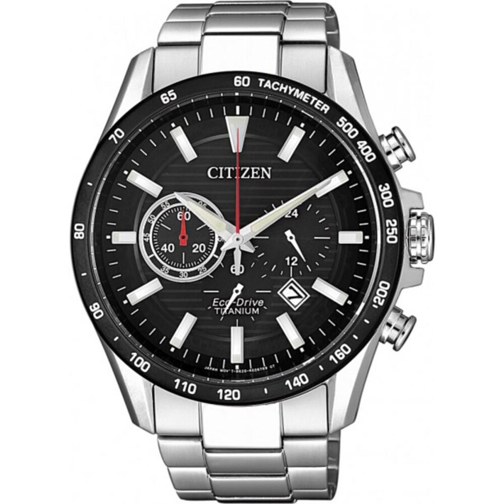 Citizen Uhr CA4444-82E Eco-Drive Super Titanium schwarzes Ziffernblatt