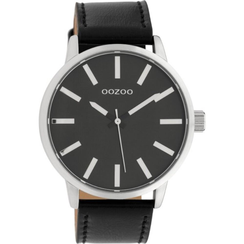 OOZOO Uhren C10034 schwarz Lederband Unisex 45mm