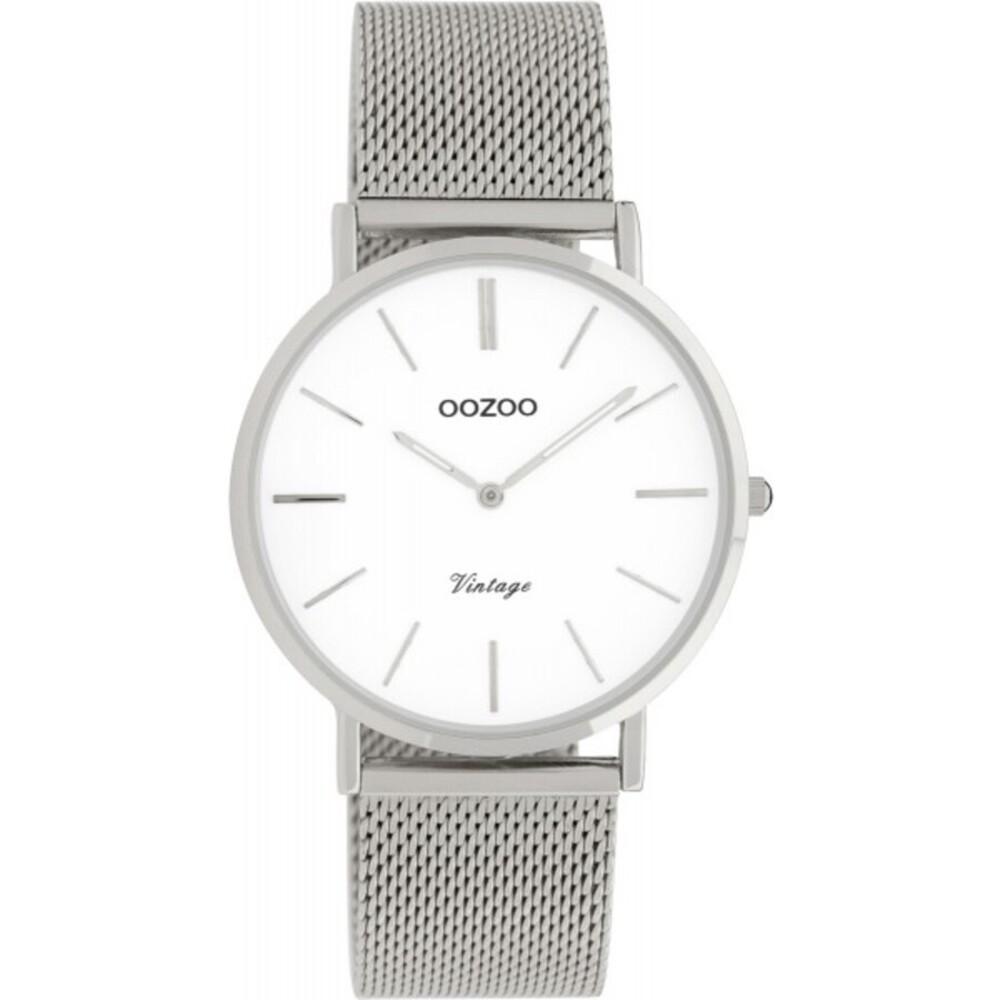 OOZOO Uhren C9902 Silber Edelstahl Milanaise Armband Metallgehäuse silberfarben Damenuhr 36mm
