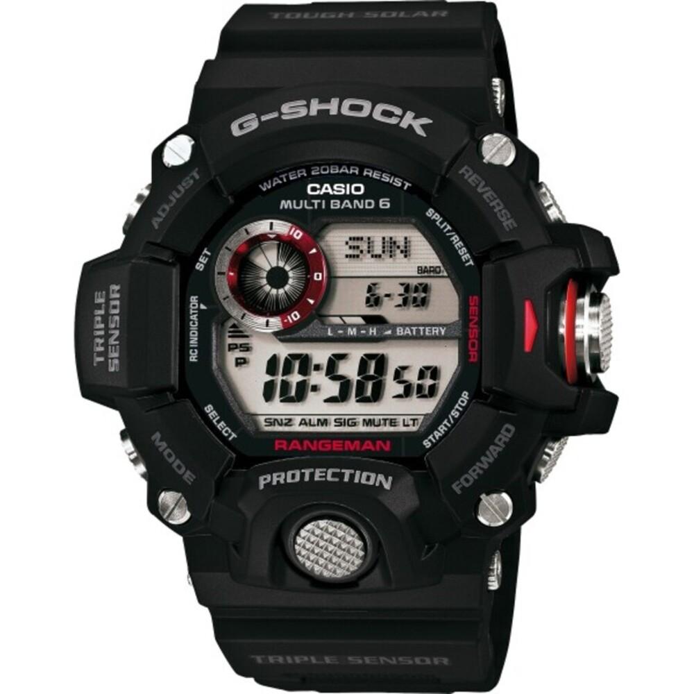 CASIO Herrenuhr GW-9400-1ER schwarz Solar Funkuhr Thermometer Kompass Höhenmesser Rangeman G-SHOCK PREMIUM