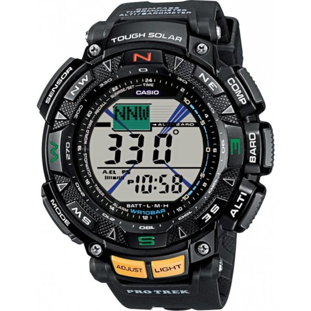 CASIO Herrenuhr PRG-240-1ER schwarz Resin Solaruhr Kompass Thermometer Höhenmesser Barometer PRO TREK PREMIUM