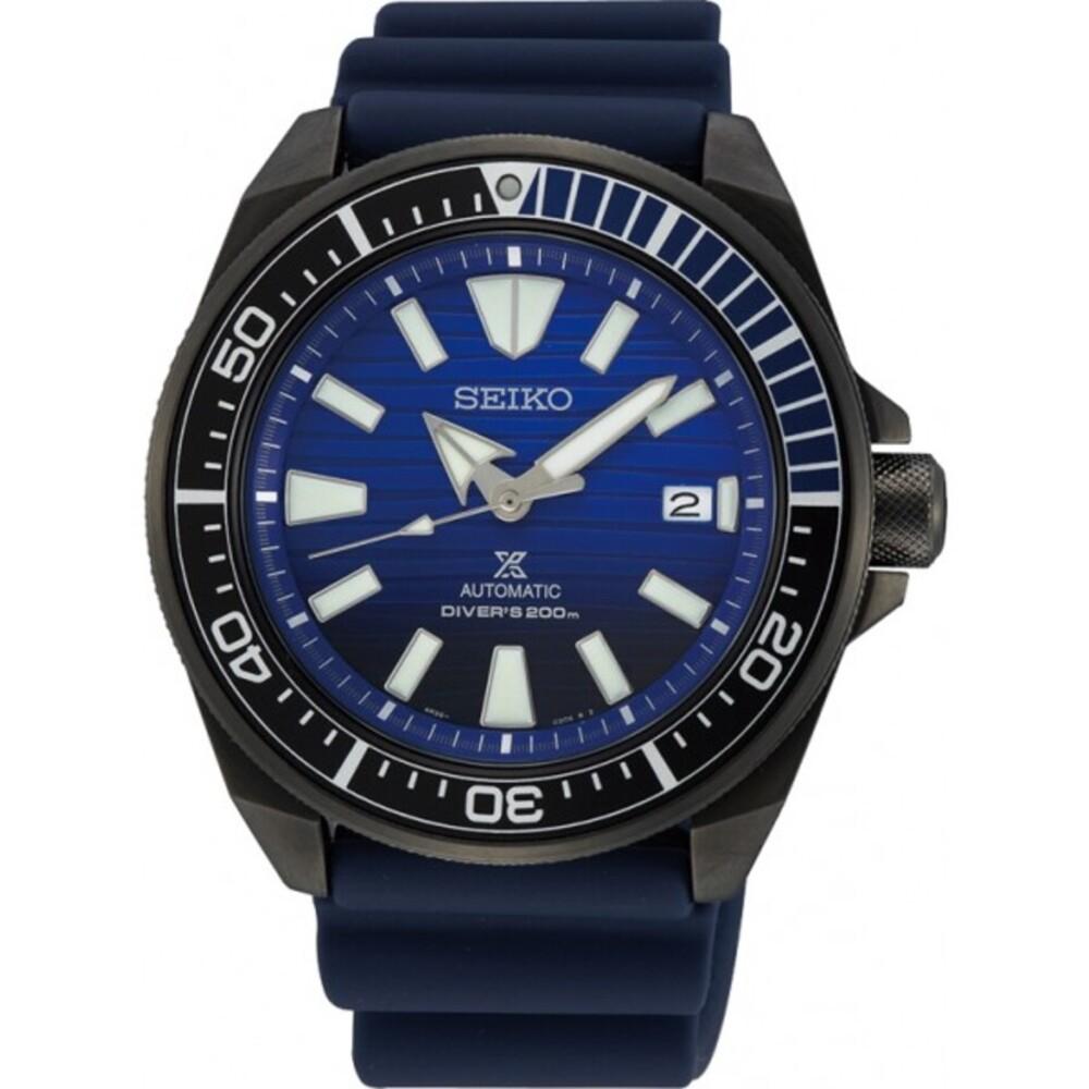 SEIKO Herrenuhr Prospex SRPD09K1 Automatik Edelstahl 20bar Taucheruhr Diver Safe the Ocean New Samurai 44mm Durchmesser