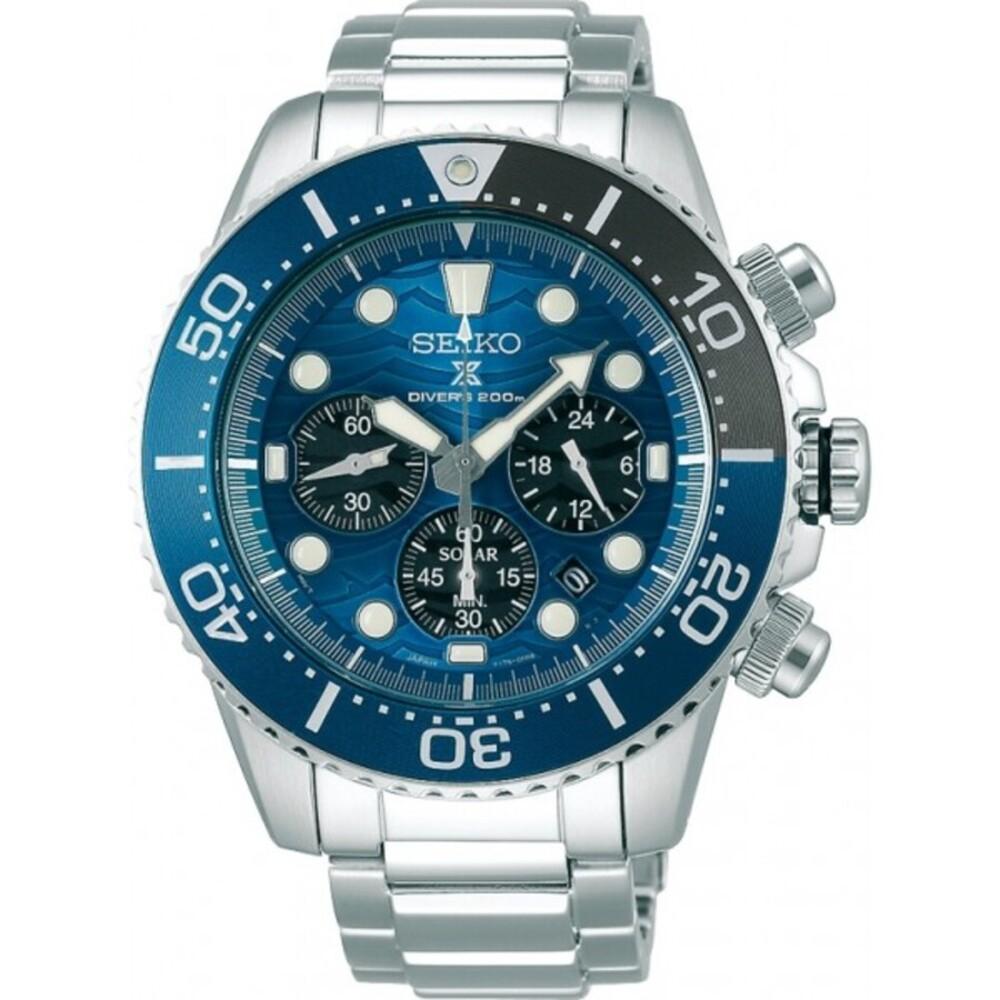 SEIKO Herrenuhr Prospex SSC741P1 Solar Chronograph Divers Save the Ocean 20bar Taucheruhr