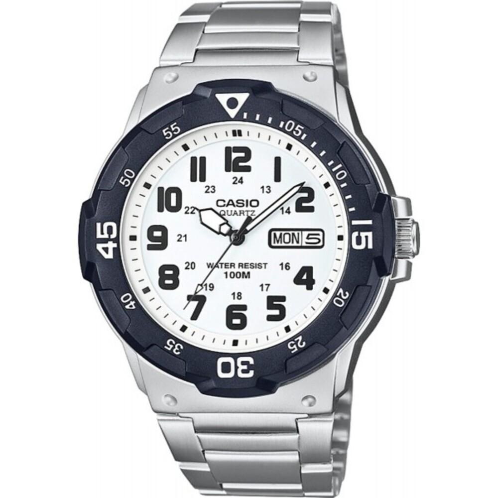 Casio Collection MRW-200HD-7BVEF Herren Uhr Quarz Silber Schwarz