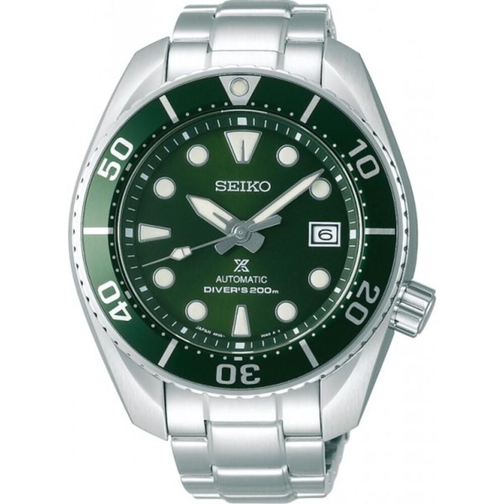 Seiko SPB103J1 Taucheruhr Automatik 20 bar Prospex Sumo Edelstahl Herrenuhr grünes Zifferblatt Herrenuhr