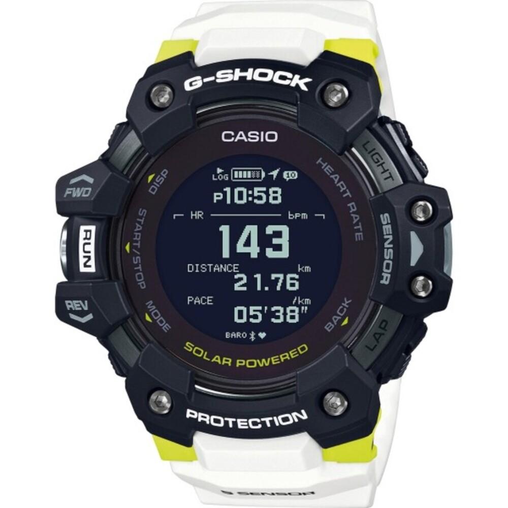 Casio G-Shock GBD-H1000-1A7ER Casio  Bluetooth Herrenuhr Sportuhr Taucheruhr weiß schwarz grüne Uhr