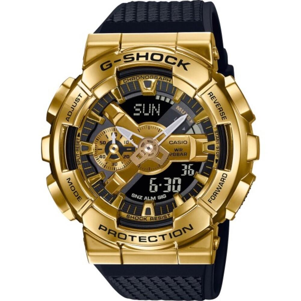 Casio G-Shock GM-110G-1A9ER Gold Schwarze Casio Uhr Wasserdicht Stoppfunktion