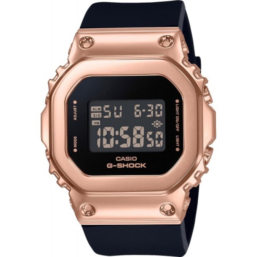 Casio G-Shock GM-S5600PG-1ER schwarz rose Damenuhr Wasserdicht Stoppfunktion Alarmfunktion