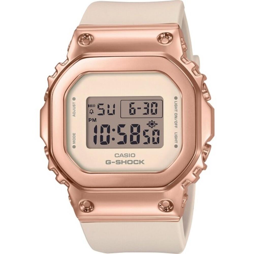 Casio G-Shock GM-S5600PG-4ER weiß rose damenuhr taucheruhr sportuhr