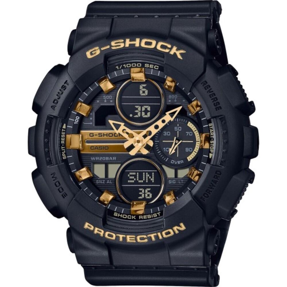 Casio G-Shock GMA-S140M-1AER schwarze wasserdichte Taucheruhr mit Chrongraph