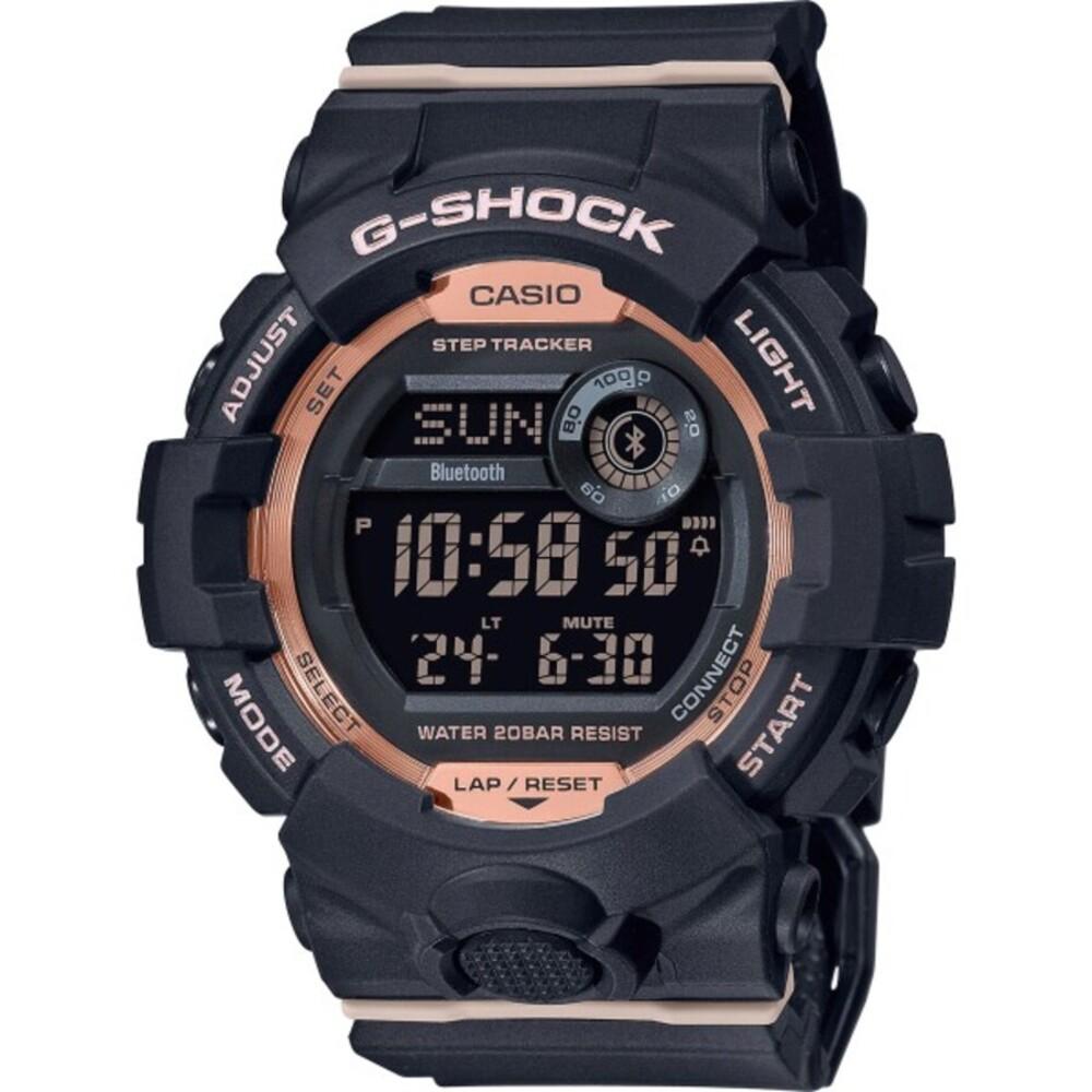 Casio G-Shock GMD-B800-1ER Damenuhr Taucheruhr Stopp Uhr Blutooth Schwarz pink