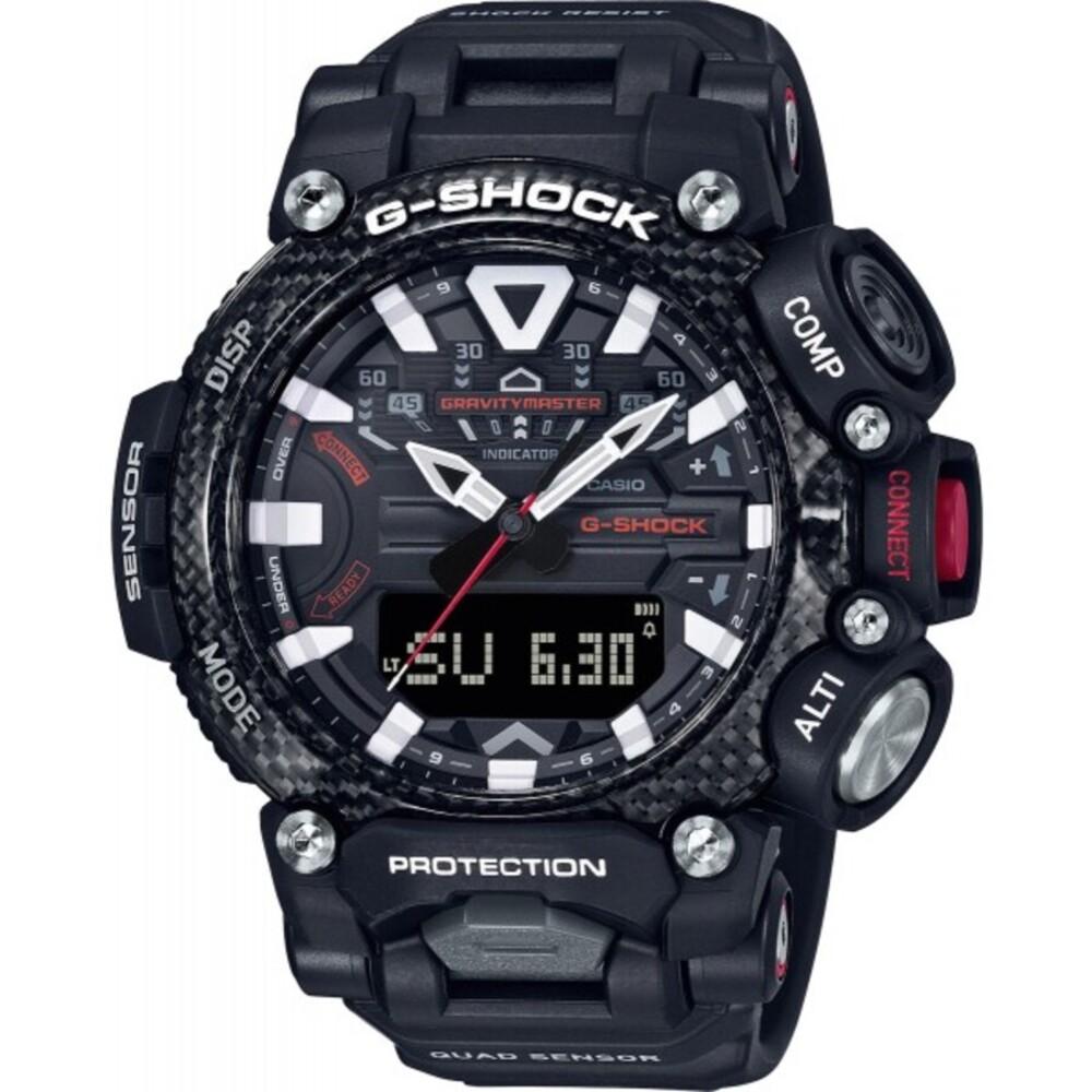 Casio G-Shock GR-B200-1AER Taucheruhr Bluetooth Sportuhr Chronogaph schwarz-rot