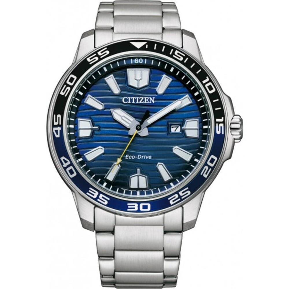 Citizen Uhr AW1525-81L ECO-Drive Herrenuhr Edelstahl Blau