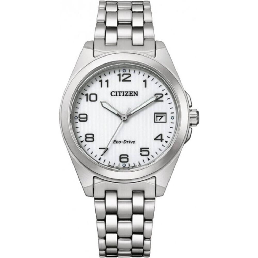 Citizen Uhr EO1210-83A ECO-Drive Damen Uhr Edelstahl/Weiß 33,5mm