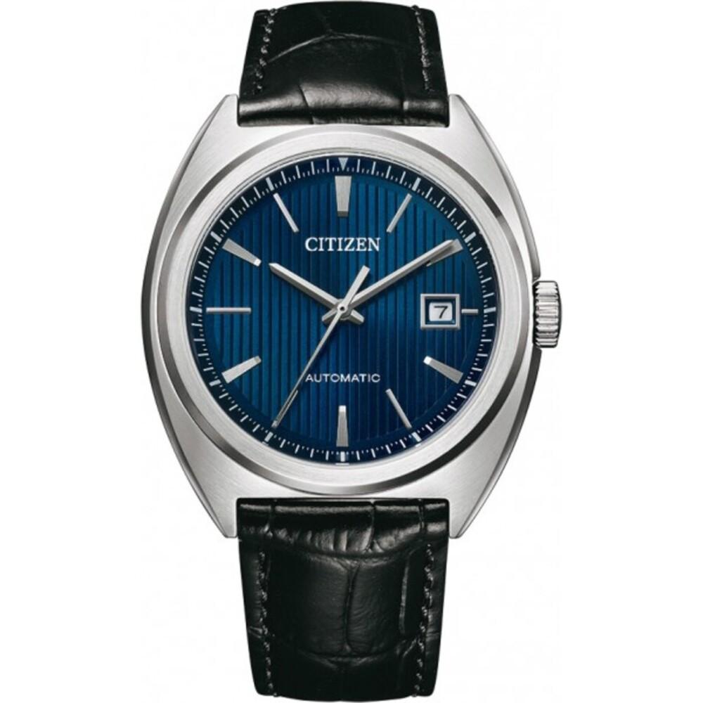 Citizen Uhr NJ0100-46L Automatikuhr Edelstahl Herrenuhr Schwarz/Blau