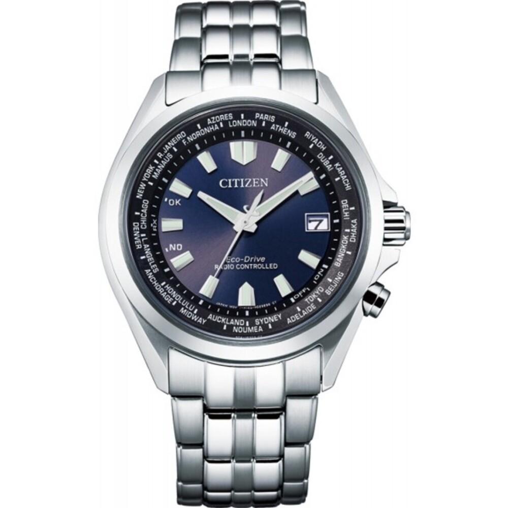 Citizen Uhr CB0220-85L ECO-Drive Herrenuhr Stahl/Blau