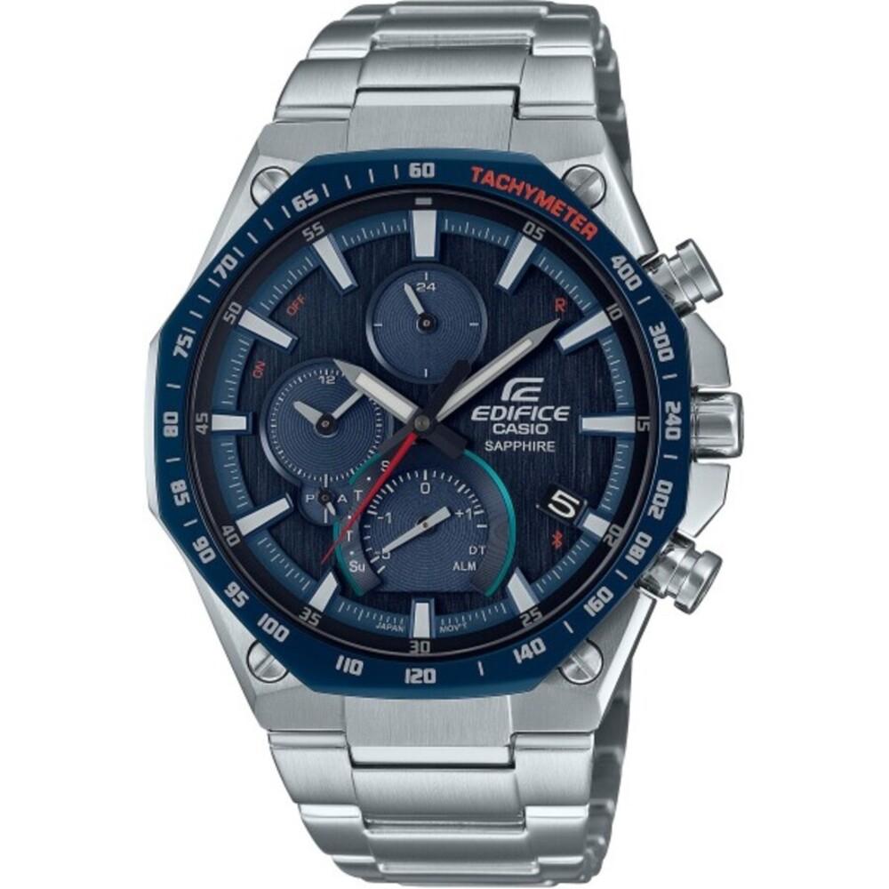 Casio Edifice Bluetooth Herren Uhr EQB-1100XDB-2AER Edelstahl Blau