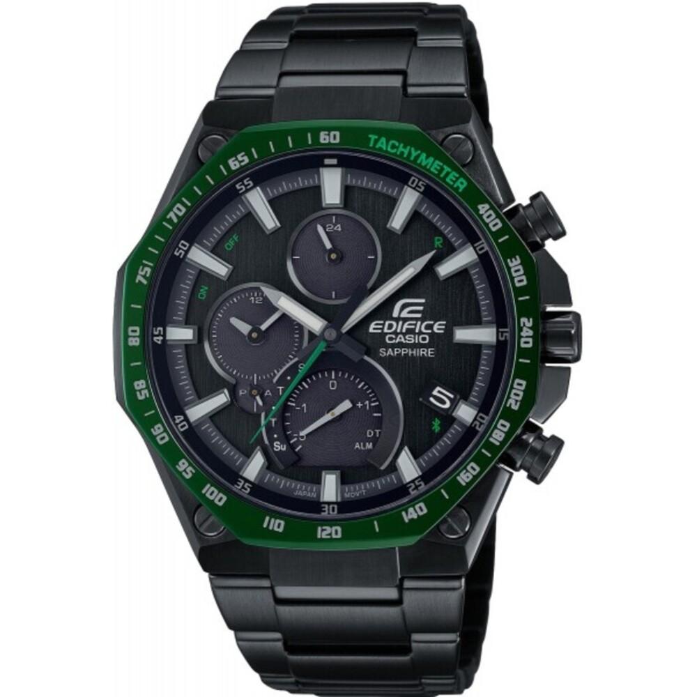 Casio Edifice Bluetooth Solar Herren Uhr EQB-1100XDC-1AER Edelstahl Schwarz/Grün