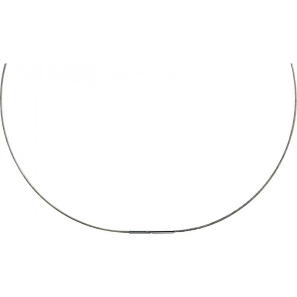 Edelstahlkette Spiralkette Edelstahlcollier silberfarben Bajonettverschluss_01