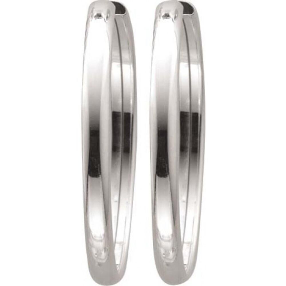 Große Creolen Silber Scharniercreolen Silbercreolen Silberohrringe Sterling Silber 925 Ø 39mm Damenohrirnge_01