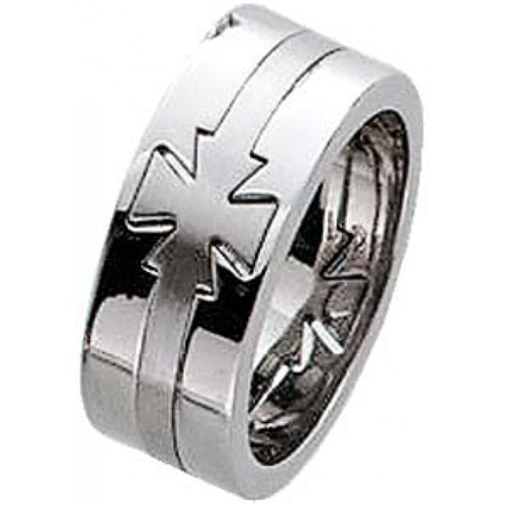 Edelstahl Ring Set Herren Ring Kreuz Schmuck Toyo Yamamoto Steel Collection 3