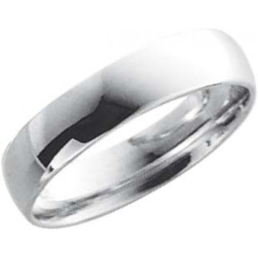EheringTrauring Weißgold in 14 k 585/,  Breite 5,0mm, Stärke 1,3mm der Ring ist hochglanz poliert die Gravur der Trauringe sowie das Etui ist im Preis enthalten und bei diesen einfarbigen Trauringen - Eheringen ist auch der kostenlose Auffrischungsservice