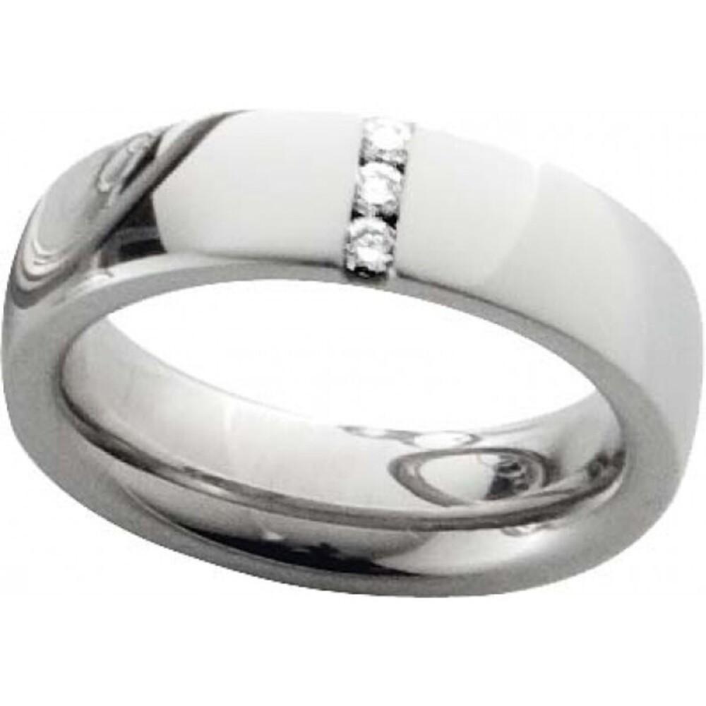 Trauring in Palladium 585/-, 3 Brill. 0,09ct W/SI, Breite 6,0mm, Stärke 2,8mm, der Ring ist hochglanz poliert, die Gravur der Trauringe sowie das Etui erhalten Sie kostenlos und bei diesen einfarbigen Trauringen - Eheringen ist auch der kostenlose Auffris