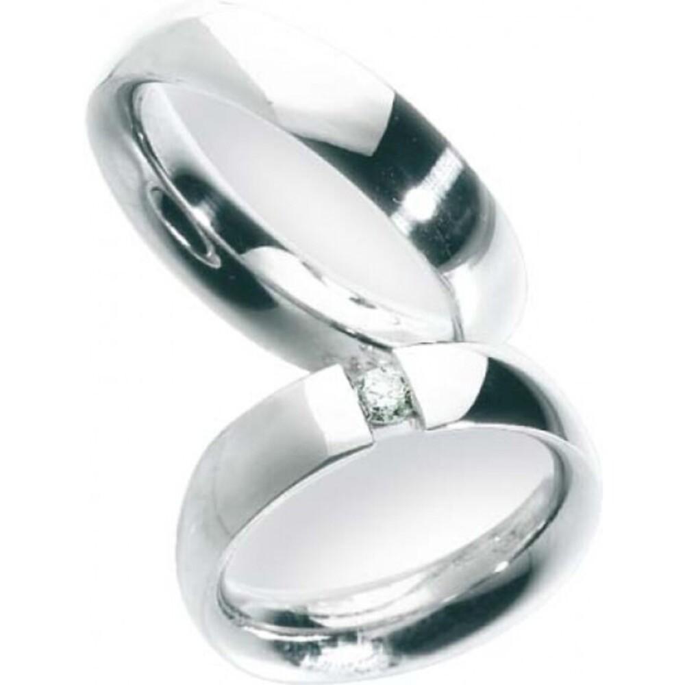 Trauring in Weißgold 585/-, Breite 5,5 mm,Stärke 2,6 mm, der Ring ist hochglanz poliert, die Gravur der Trauringe sowie das Etui erhalten Sie kostenlos und bei diesen einfarbigen Trauringen - Eheringen ist auch der kostenlose Auffrischungsservice beinhalt