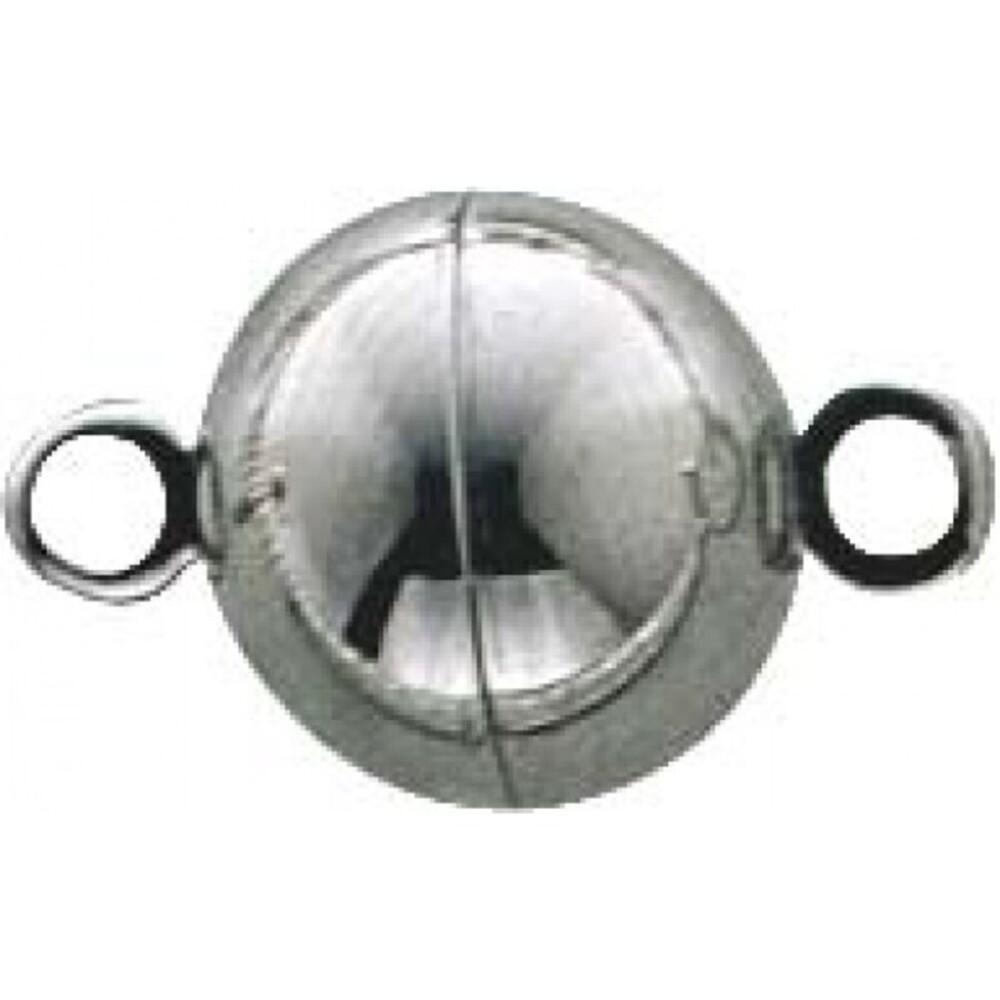 Magnetverschluss Edelstahl rund, Durchmesser 10mm. Premiumqualität von Deutschlands größtem Schmuckhändler Abramowicz aus Stuttgart - die Nr. 1 für Gold, Silber und Edelsteine.