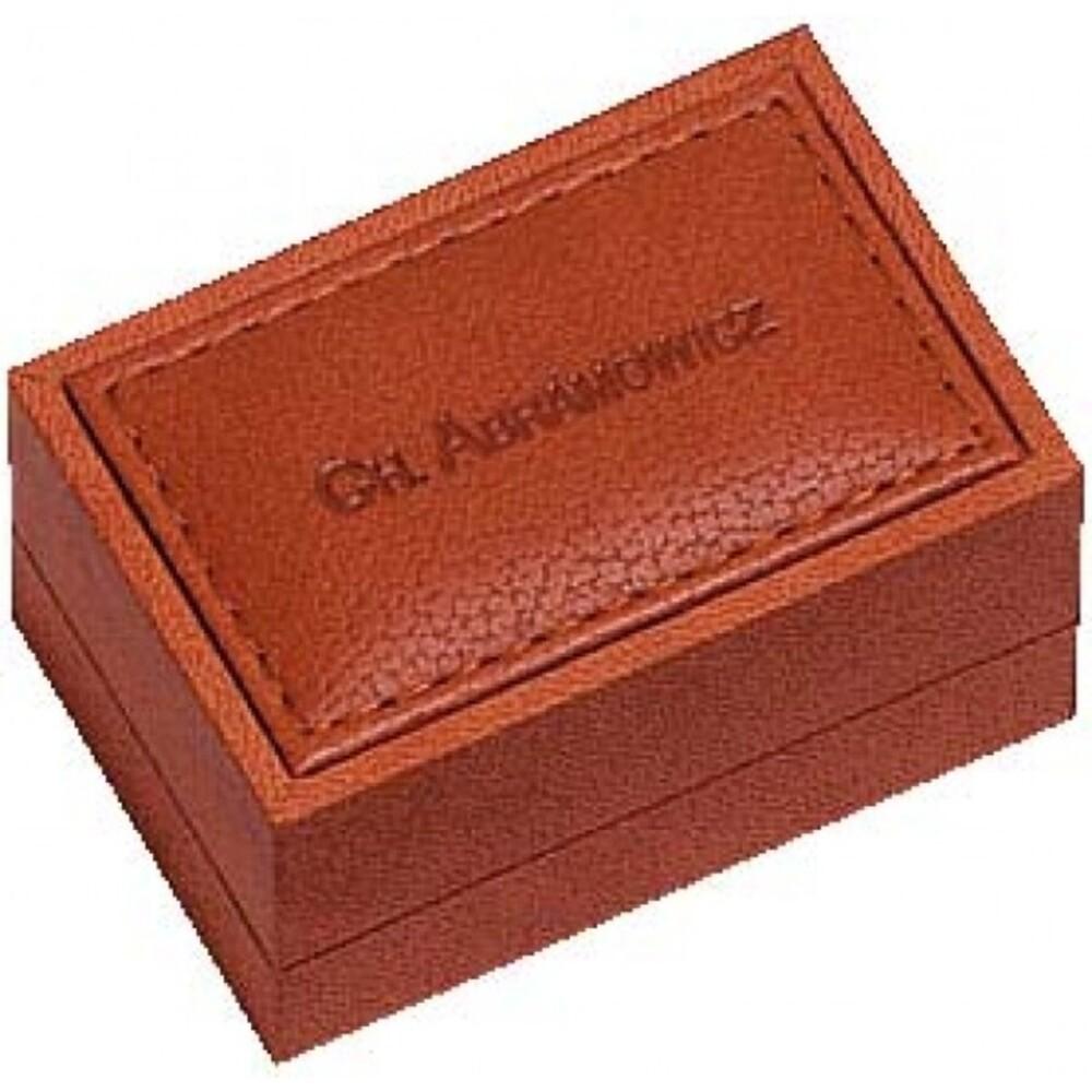 Trauringetui aus Nubuk mit Schaumstoffeinlage, LxBxH 75x50x40 mm. Erhältlich bei Abramowicz, dem Juwelier Ihres Vertrauens seit 1949, aus Stuttgart, Rotebühlstr. 155