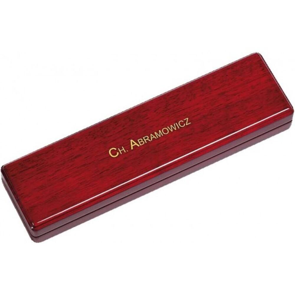 Armband/Kettenetui aus Holz mit Ledereinlage, LxBxH233x63x30 mm. Erhältlich bei Abramowicz, dem Juwelier Ihres Vertrauens seit 1949, aus Stuttgart, Rotebühlstr. 155