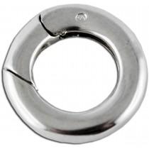 Schliesse aus echtem Sterlingsilber 925/-, Durchmesser 14mm, Stärke 2mm. Premiumqualität von Deutschlands größtem Schmuckhändler Abramowicz aus Stuttgart.