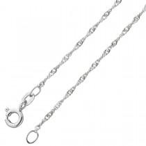 Singapurkette Weißgold 585 Halskette