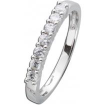 Diamant Ring Weissgold 585 7 Brillanten zus 0,42ct W/SI2