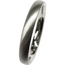 feiner Trauring in Platin 600, die Oberfläche ist schrägmatt, 3x1,7mm, bombiert für angenehmes Tragen (Default)