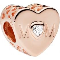 PANDORA Charm 781881CZ Mother Heart Rose Metall klarer Zirkonia Herzform Element